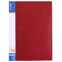 Папка скоросшиватель пластиковая ECONOMIX A4, CLIP A, красная