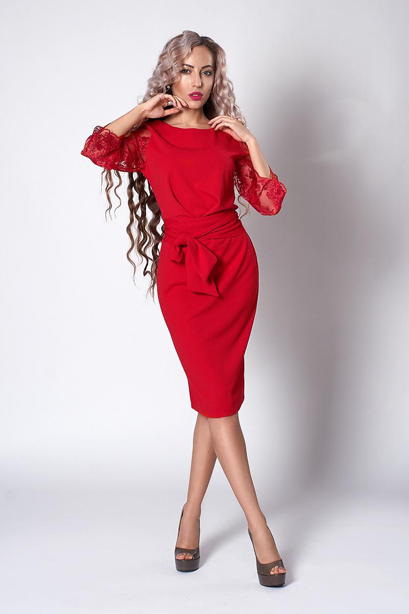Платье мод №704-6, размеры 40.50,52,54 красное