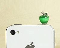 """Заглушка для аудио порта  3,5 мм (опал) """"ЯБЛОЧКО"""". Цвет: зелёный."""