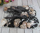 Бархатные резинки для волос с украшением в стразах черные 12 шт/уп, фото 3
