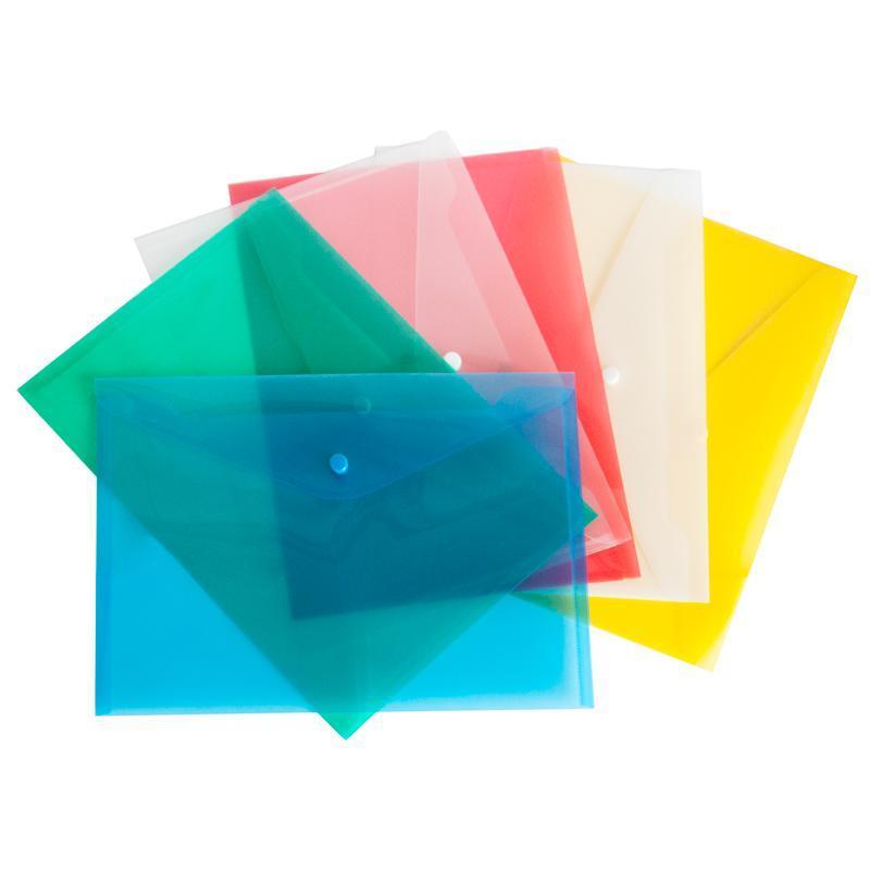 Папка-конверт А4 прозора кнопку ECONOMIX, 180 мкм