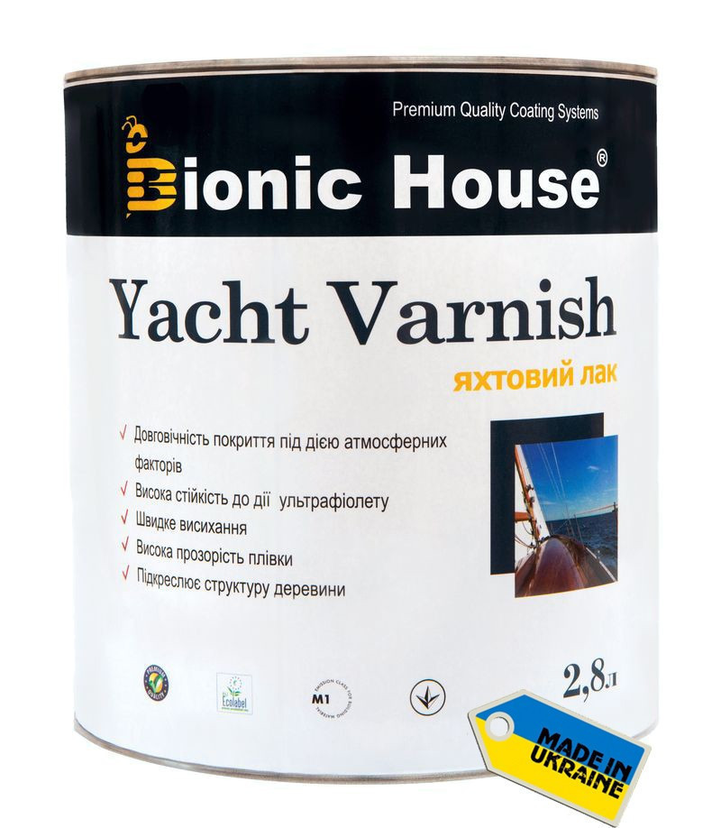 Яхтный лак Bionic House Yacht Varnish Полумат 1л
