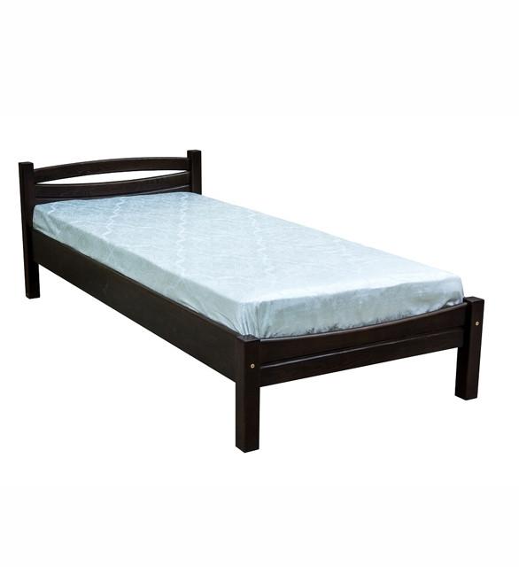 Ліжко односпальне в спальню та дитячу з натурального дерева Л-109 Скіф
