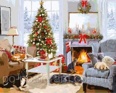 раскраска рождественской утро