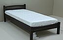 Ліжко односпальне в спальню та дитячу з натурального дерева Л-109 Скіф, фото 3