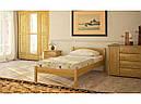 Ліжко односпальне в спальню та дитячу з натурального дерева Л-109 Скіф, фото 4