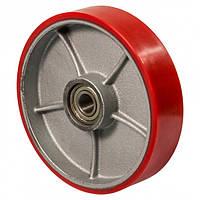 Колесо для гідравлічних візків та рокл без кронштейна з кульковим підшипником (серія 55), діаметр-180мм