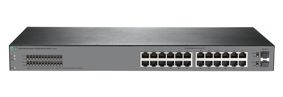 Коммутатор HP OfficeConnect 1920S 24G 2SFP гигабитный (JL381A)