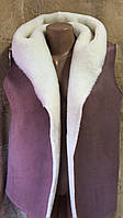 Безрукавка жіноча з штучної замші на овчині