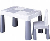 Комплект дитячих меблів Tega Baby MULTIFUN (стіл + стілець) (сірий(Grey))