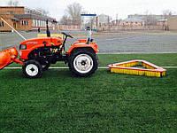 Щётка на трактор для ухода за газоном