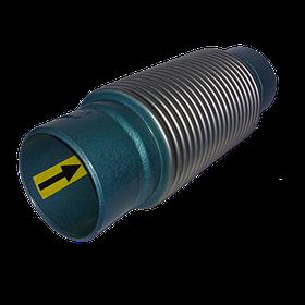 Сильфонний компенсатор осьовий приварний з внутрішньою вставкою L=30