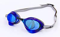 Очки для плавания стартовые MadWave TURBO RACER II RAINBOW синие M045806