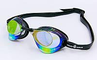 Очки для плавания стартовые MadWave TURBO RACER II RAINBOW фиолетовые M045806