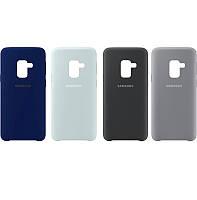 Чехол Silicone Case для Samsung Galaxy A5 2018 / A8 2018 A530 прорезиненный оригинальный