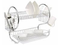 Двухъярусная сушилка для посуды Con Brio СВ-850 (55х24,5х40см)