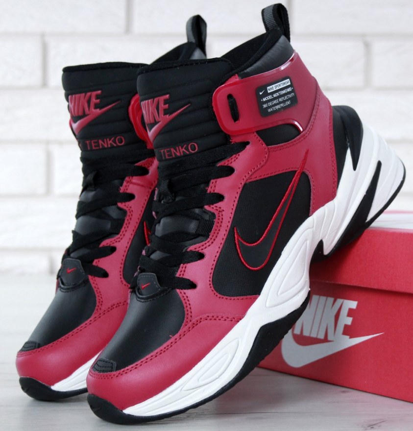best loved 80c28 9cf30 Зимние мужские кроссовки NIKE M2K Tekno Red Black, найк техно -  интернет-магазин