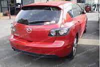 Спойлер для Mazda 3 Hatchback, козырек на стекло Мазда BK Хэтчбек