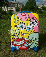 "Детский чемодан 18"" на 4 колесах Губка Боб, фото 1"