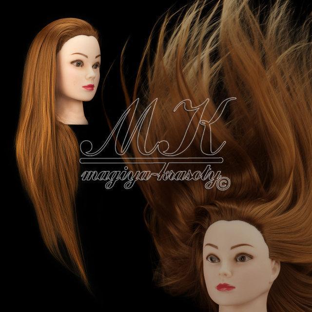 Учебная голова манекен для плетения 20% натуральных волос, длина 65-70 см