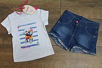 Костюм с джинсовыми шортами 1- 5 лет