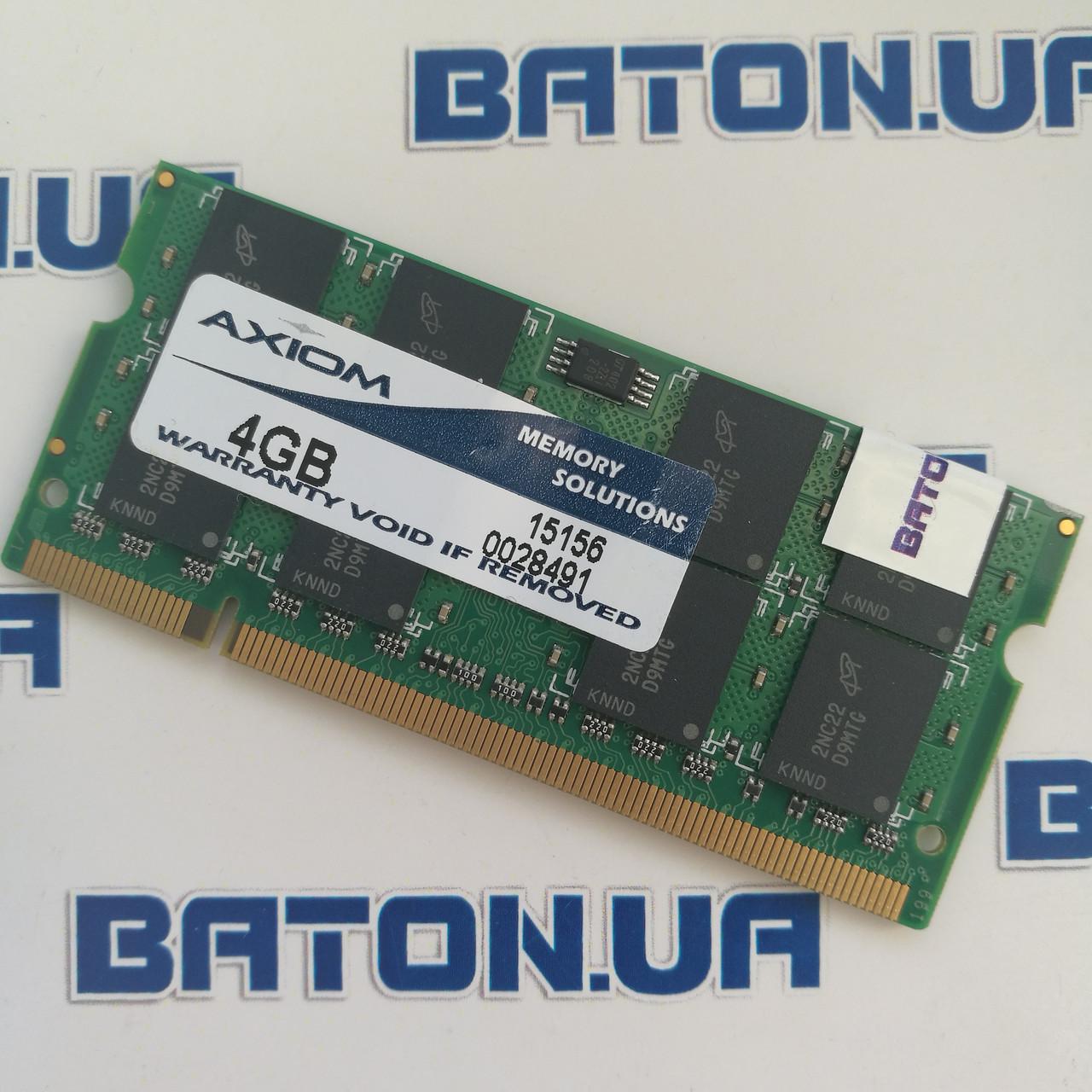 Оперативная память для ноутбука Axiom 15156 SODIMM DDR2 4Gb 800MHz 6400s CL6 (15156)