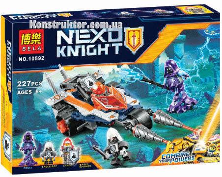"""Конструктор Bela 10592 """"Турнирная машина Ланса"""" 227 деталей. Аналог Lego Nexo Knights 70348"""