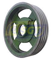 Шкив большой D300 (4-ручейный) для роторной косилки 1.65, фото 1