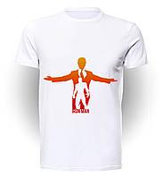 Футболка для девочек размер 152 GeekMand Железный Человек Iron Man в человеке Аrt IM.01.022