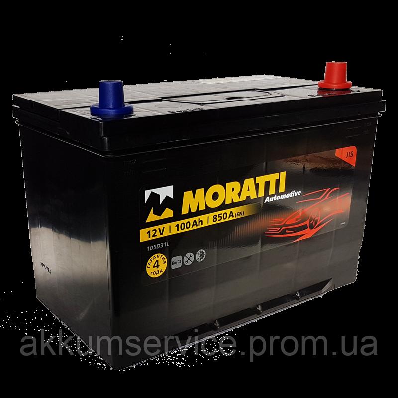 Аккумулятор автомобильный  Moratti Asia 100AH R+ 850A