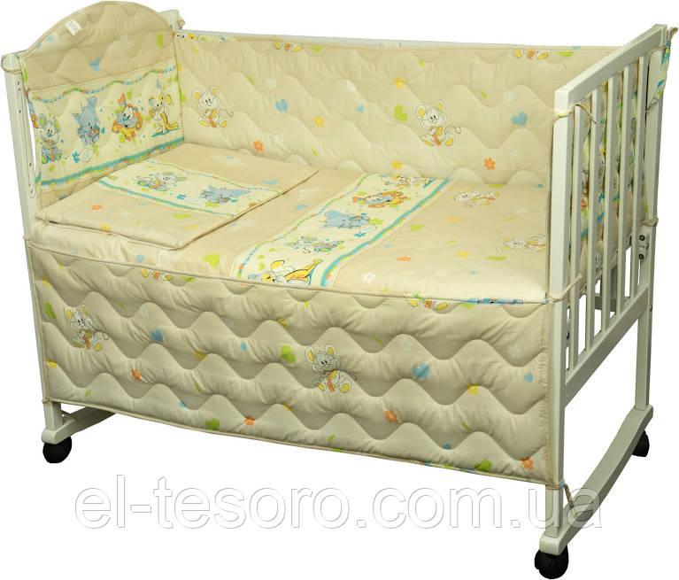 Дитячий спальний Комплект «Мишка з сиром» (4 Предмета)