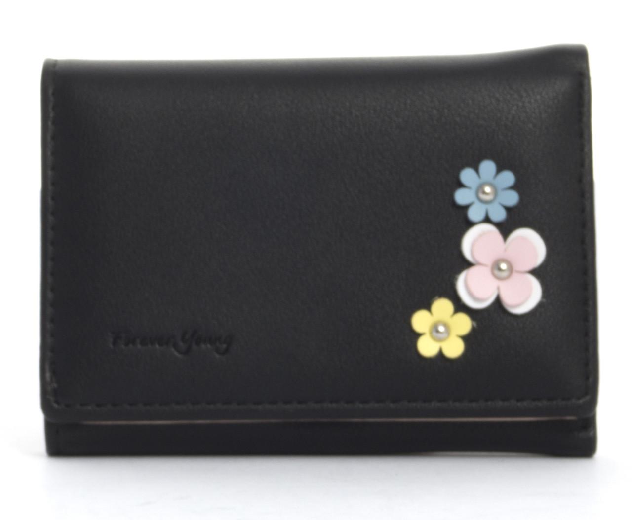 Женский маленький вместительный прочный вместительный кошелек TAILIAN art.T6036-015 черный
