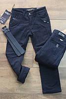 Утепленные котоновые брюки на флисе  6 лет