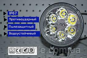 Дополнительная светодиодная фара 24W с габаритным светом Глаз Ангела 24W