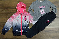 Спортивный костюм- тройка для девочек 4-года