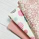 Фланелевая ткань кружочки розовые и голубые на белом (шир. 2,4 м), фото 6