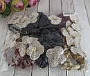 Бархатные резинки для волос с украшением в стразах цветные 12 шт/уп, фото 5