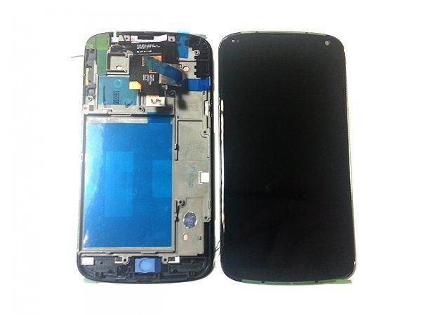 Дисплей для LG E960 Nexus 4 с тачскрином и рамкой черный Оригинал
