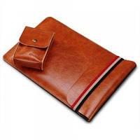 Чехол - карман для iPad 12.9 (2017-2018) Coteetci Leather Bag  коричневый