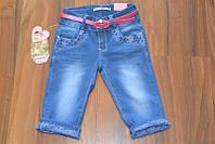 Джинсовые бриджи для девочек ,размеры 6-8,.Польша