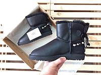 Женские зимние уггиUGG AUSTRALIA - mini renn, metallic black, фото 1