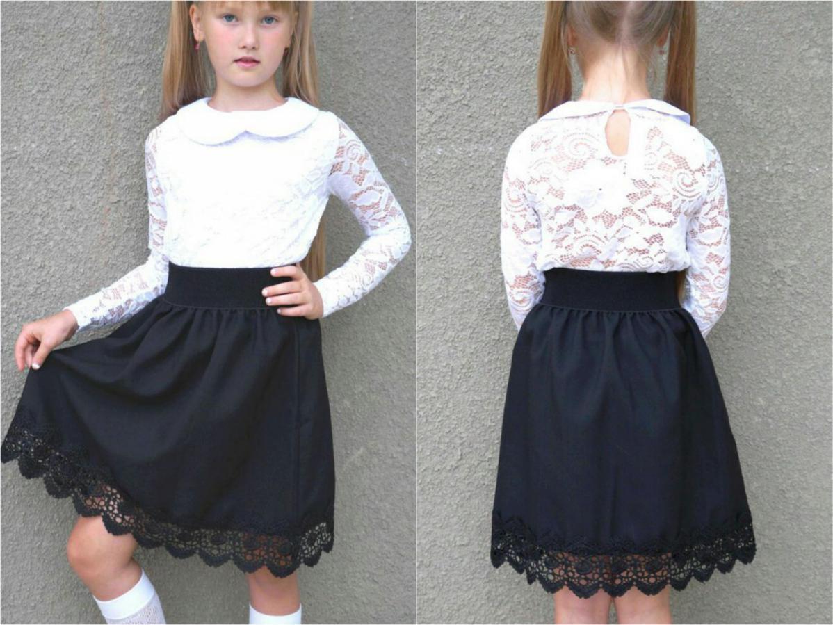 Детская юбка для школы №1 рост 116-150