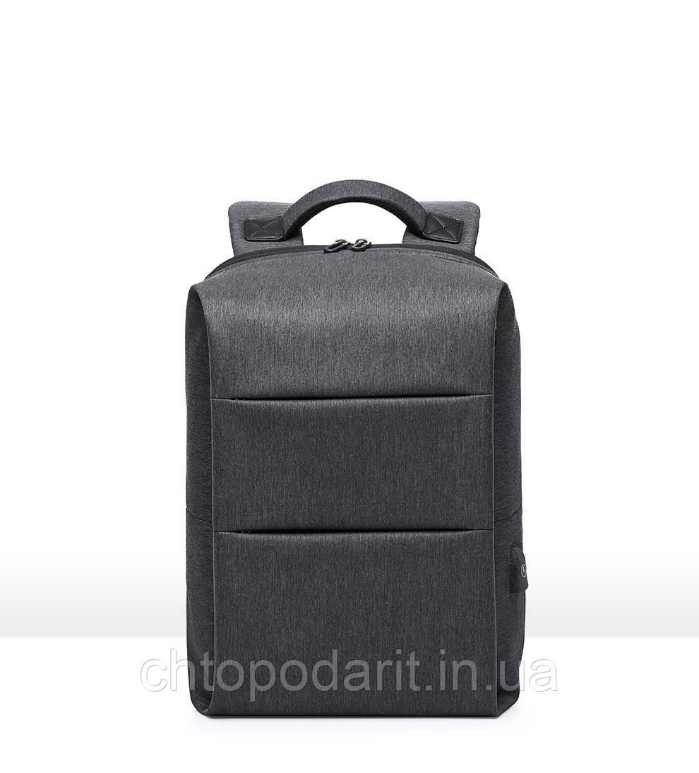 Мужской рюкзак серого цвета для повседневной жизни, прогулки, школы.