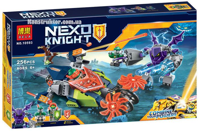 "Конструктор Bela 10593 ""Слайсер Аарона"" 256 деталей. Аналог Lego Nexo Knights 70358"