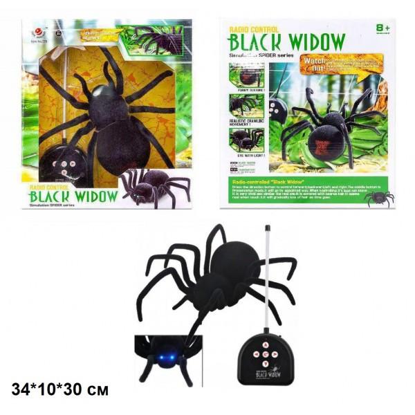 Паук на радиоуправлении Черная вдова. Светяться глаза.Black Widow 779 на пульте управления