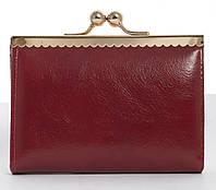 Жіночий міцний невеликий місткий гаманець на поцілунки Fuerdanni art. 721 червоний, фото 1