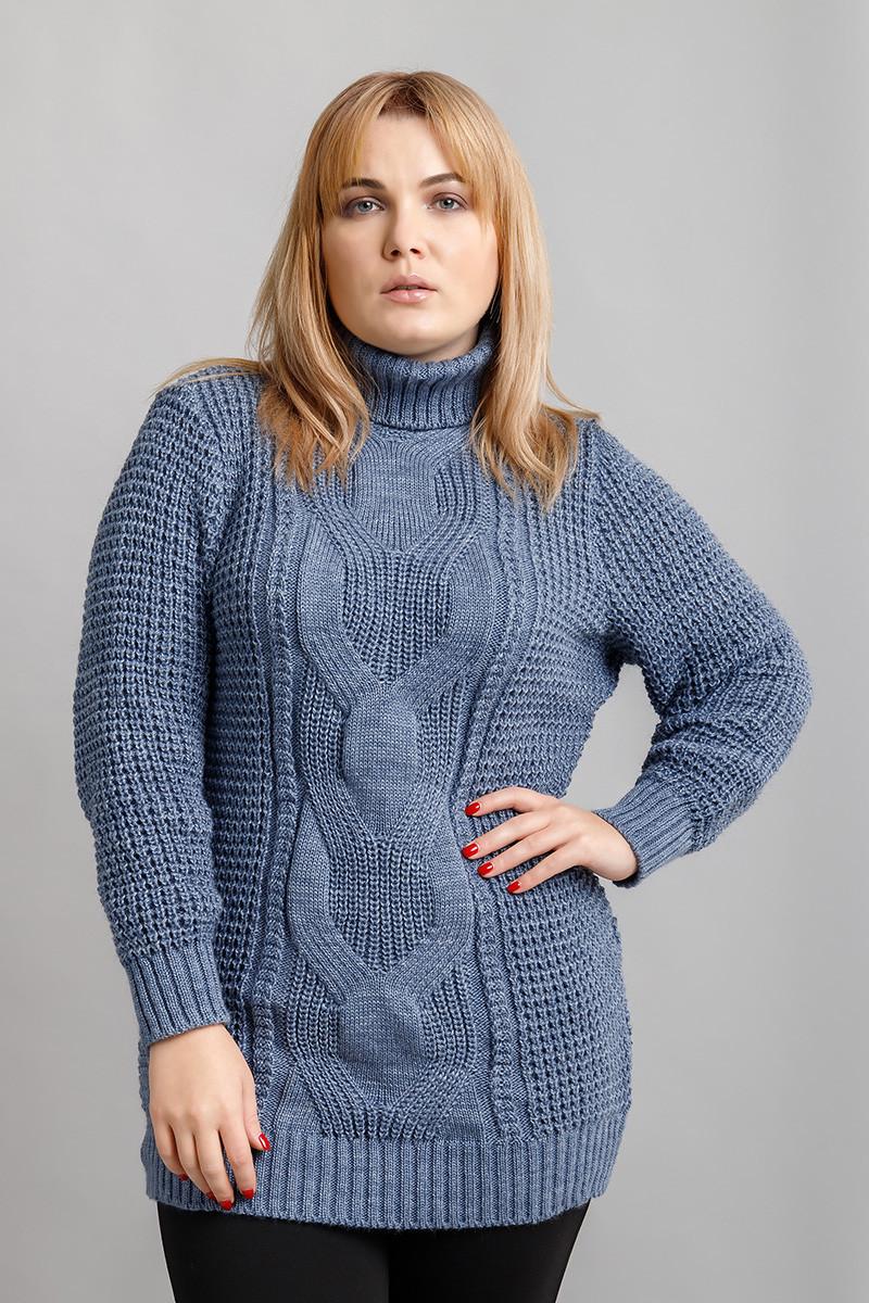 В'язаний светр великих розмірів Кукурудза джинс