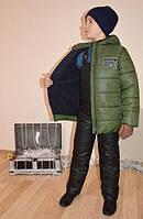 Зимняя куртка на флисе для мальчика рост 134, 140. Модель Стив, Украина, фото 1