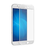 Защитное стекло 3D Full Cover для Samsung A3 (2017) SM-A320 White (Screen Protector 0,3 мм)