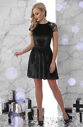 2efc4347037 Платье велюровое с красивыми короткими рукавами вечернее новогоднее  нарядное коктейльное
